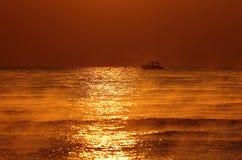 Mer et bateau Photos libres de droits
