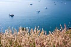Mer et bateaux d'Andaman Photo stock