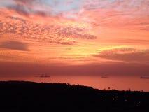Mer et ciel dans l'orange Image stock