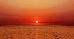 Mer et coucher du soleil Photo stock