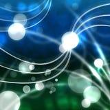 Mer et Dots Background Means Glowing Bubbles Images libres de droits