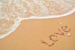 Mer et eau d'amour Image libre de droits