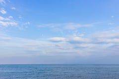 Mer et horizon Image libre de droits