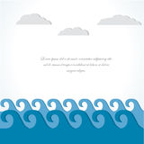 Mer et nuage. carte d'illustration. Images stock