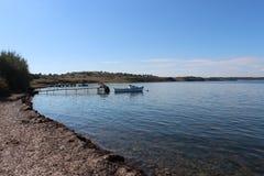 Mer et pêcheurs Images stock
