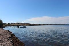 Mer et pêcheurs Images libres de droits