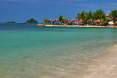 Mer et plage de Chang Images libres de droits