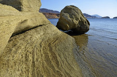 Mer et roches, stationnement normal de Cabo de Gata, photos stock