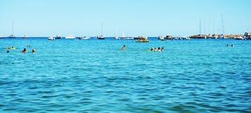 Mer et tourisme de Tyhrrhenian en Toscane, en île de l'Île d'Elbe, l'Italie Photographie stock