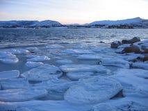 Mer figée dans l'Arctique Photos stock