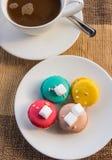 Mer färgrik macarons Fotografering för Bildbyråer