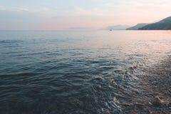 Mer Italie de Varigotti Images libres de droits