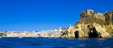 mer italienne de procida de Naples de côte Photo libre de droits