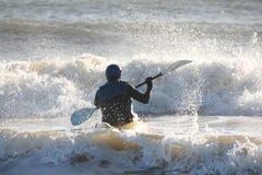 Mer Kayaking Photos libres de droits