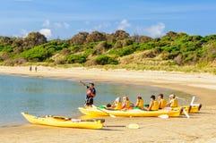 Mer kayaking - baie de Coles Photo stock