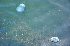 Mer, l'eau, concept de pollution d'océan Image libre de droits