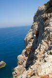Mer l'Europe de ciel bleu de nature d'été de Leucade Grèce Images libres de droits