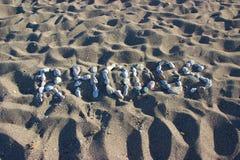 Mer l'Europe de plage de Rhodos Grèce Photo stock