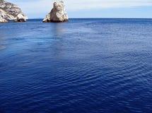 mer la bleue Стоковые Фото