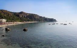 Mer, littoral, heure d'été, scène de nature Image stock