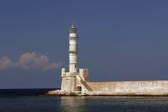 Mer-lumière dans Chania, Crète, Grèce Photos libres de droits