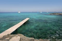Mer méditerranéenne de turquoise de paysage marin de Formentera Photo libre de droits