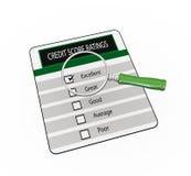 mer magnfier over värderingar för ställning för kreditering 3d Royaltyfri Bild