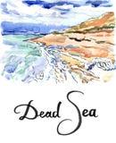 Mer morte Israël de formations de sel illustration libre de droits