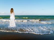 Mer, océan, nature, espoir, fille Images stock