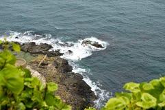 Mer onduleuse à un air venteux photo stock