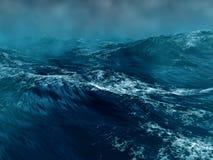 Mer orageuse illustration de vecteur