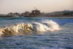 Mer orageuse Photographie stock libre de droits