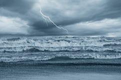 Mer orageuse Images stock