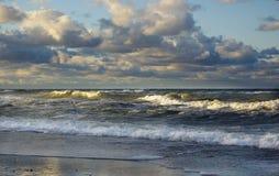 Mer orageuse Photos libres de droits