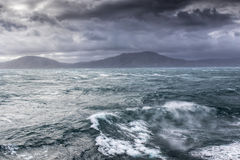 Mer orageuse dans le cuisinier Straight Photographie stock libre de droits
