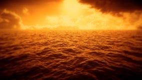Mer orange, ciel, introduction Logo Scene Background de nuages banque de vidéos