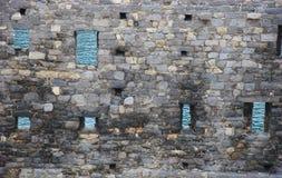Mer par une fortification en Italie Image libre de droits