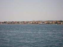 Mer par Zadar Kroatia photo libre de droits