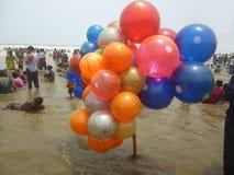 Mer-plage en couleurs photos stock