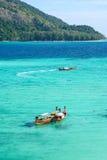 Mer profonde de couleur de la mer d'Andaman deux Photographie stock