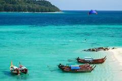 Mer profonde de couleur de la mer d'Andaman deux Photographie stock libre de droits