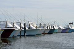 mer profonde de pêche de bateaux Image libre de droits
