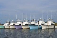 mer profonde de pêche de bateaux Photo libre de droits