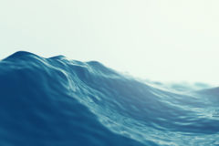 Mer, ressac étroit avec des effets de foyer illustration 3D Images stock