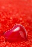 mer rouge de sel de pétrole de coeur Images libres de droits
