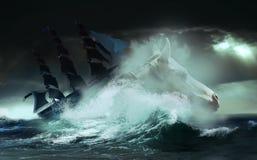 Mer sauvage illustration libre de droits