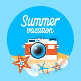Mer Shell Summer Vacation d'appareil-photo Images stock
