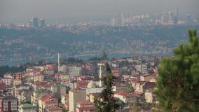 Mer /sky /nature/istanbul /people/december 2015 de vue/crête banque de vidéos