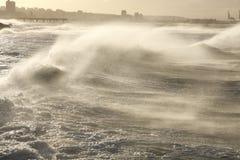 Mer soufflée par vent Photographie stock