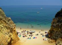 Mer, sunbath, sable Photo libre de droits